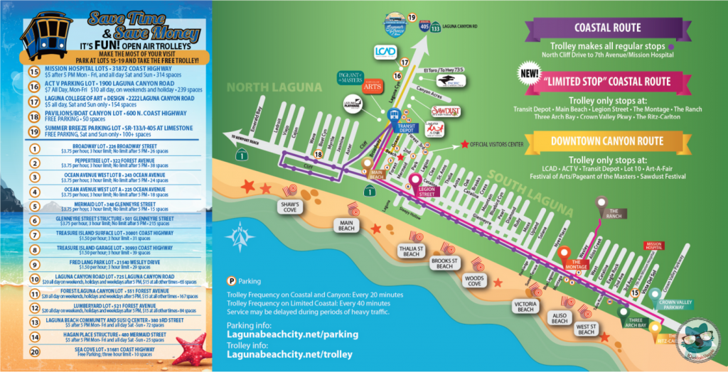 Laguna Beach - Summer Parking Map