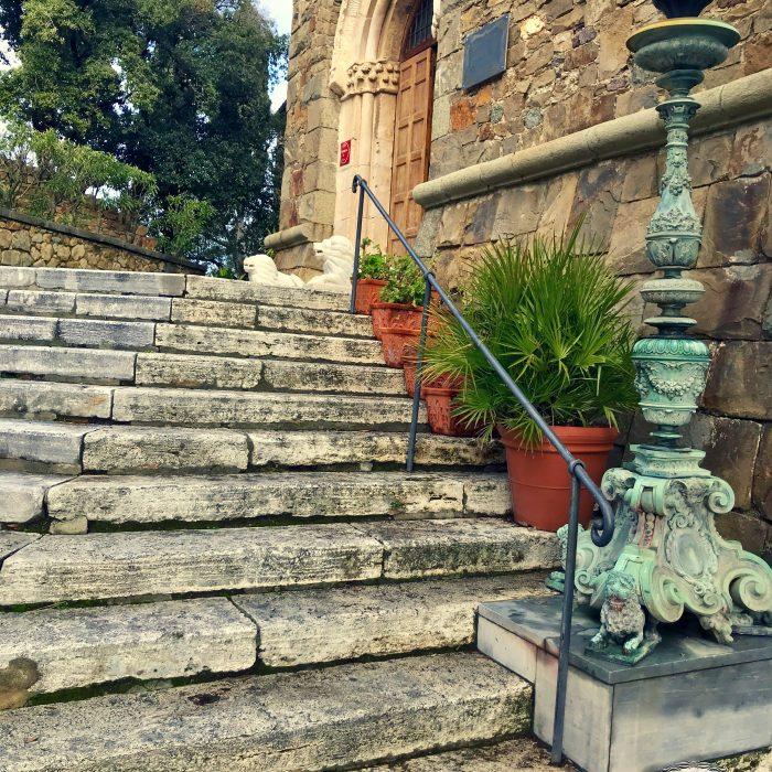 Sestri Levante - I Castelli scalinata